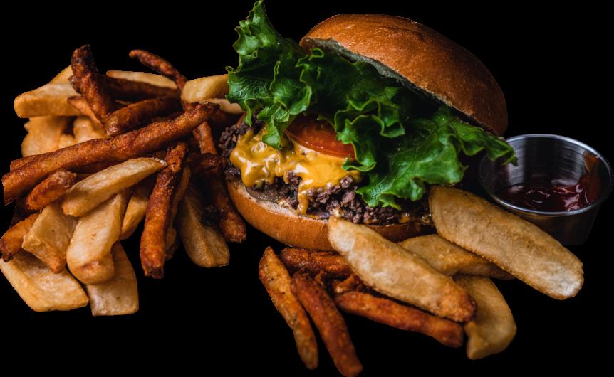 three hamburger